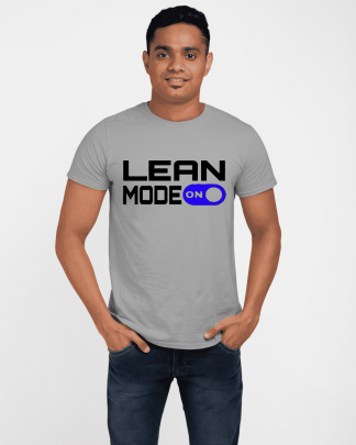 lean mode on printed t shirt light grey