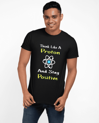 think like a proton half printed t shirt black