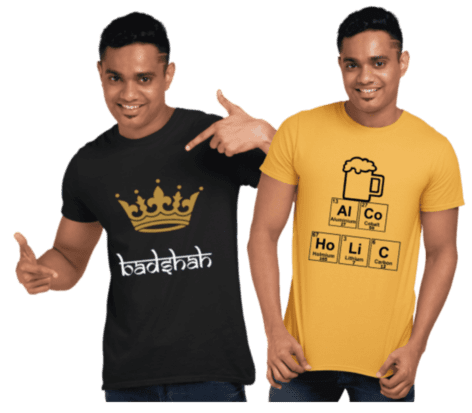 Latest printed t shirt buy online in india